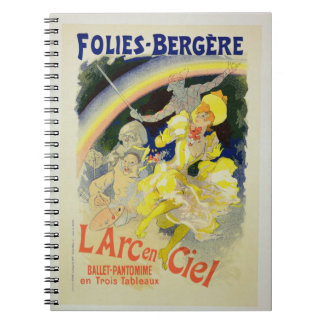 Reproduction of a poster advertising 'The Rainbow' Note Book