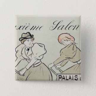Reproduction of a poster advertising the 'Salon du 15 Cm Square Badge