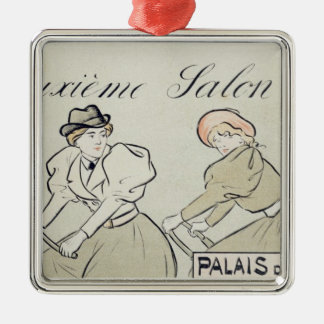 Reproduction of a poster advertising the 'Salon du Christmas Ornament
