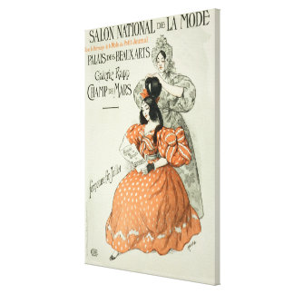 Reproduction of a poster advertising the 'Salon Na Canvas Print