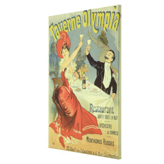 Reproduction of a poster advertising the 'Taverne Gallery Wrap Canvas