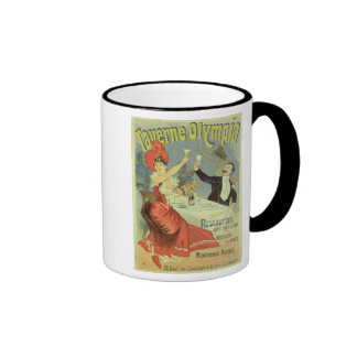 Reproduction of a poster advertising the 'Taverne Mugs