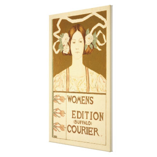 Reproduction of a poster advertising the 'Women's Canvas Prints