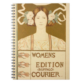 Reproduction of a poster advertising the 'Women's Spiral Note Book