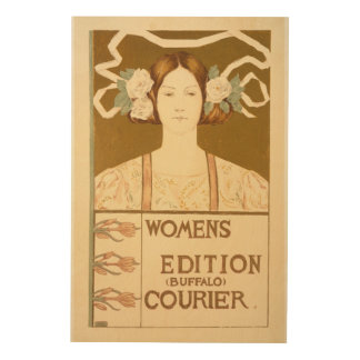 Reproduction of a poster advertising the 'Women's Wood Canvas
