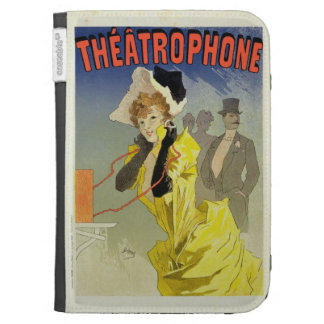 Reproduction of a poster advertising Theatrophone Kindle Keyboard Cases