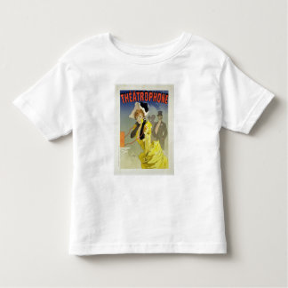 Reproduction of a poster advertising 'Theatrophone Toddler T-Shirt