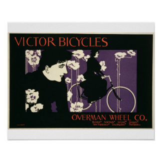 Reproduction of a poster advertising 'Victor Bicyc