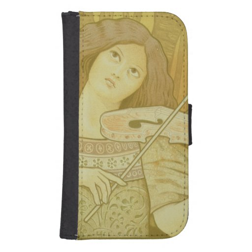 Reproduction of a poster advertising 'Violin Lesso Galaxy S4 Wallet Cases