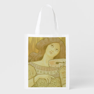 Reproduction of a poster advertising 'Violin Lesso Reusable Grocery Bag