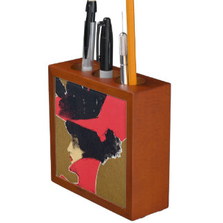 Reproduction of a poster advertising 'Zlata Praha' Desk Organisers