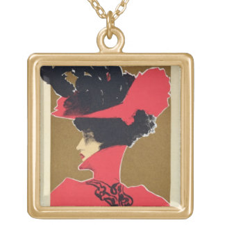 Reproduction of a poster advertising 'Zlata Praha' Gold Plated Necklace