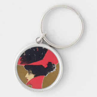 Reproduction of a poster advertising 'Zlata Praha' Key Ring