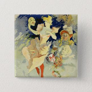 Reproduction of 'La Danse', 1891 (litho) 15 Cm Square Badge