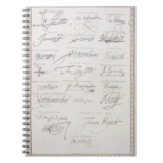 Reproduction of Signatures of the Tudors and their Spiral Notebooks