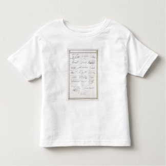 Reproduction of Signatures of the Tudors and their Toddler T-Shirt
