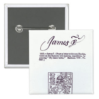 Reproduction of the signature of James VI and 15 Cm Square Badge