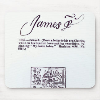 Reproduction of the signature of James VI and Mouse Mat