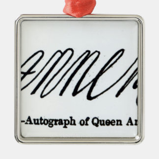 Reproduction of the signature of Queen Anne Silver-Colored Square Decoration