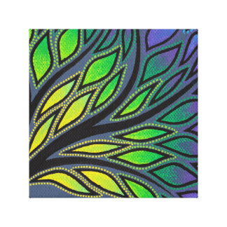 Reproduction on fabric of work Branches Stretched Canvas Print