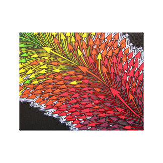 Reproduction on fabric of work Deviation Stretched Canvas Prints
