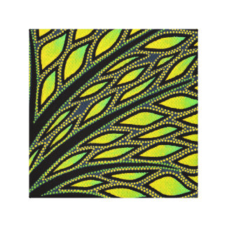Reproduction on fabric of work Foliage Gallery Wrapped Canvas