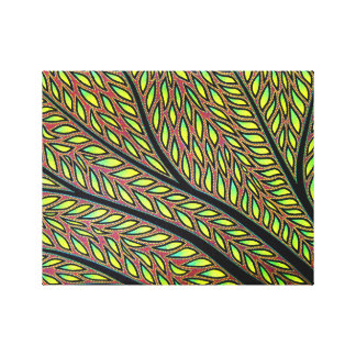 Reproduction on fabric of work Plant Gallery Wrapped Canvas