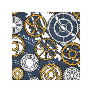 Reproduction on fabric of work Wheel Gallery Wrap Canvas