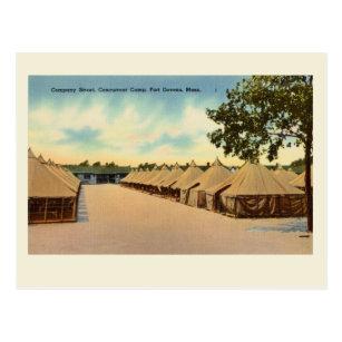 Reproduction Vintage Postcard Fort Devens, Mass