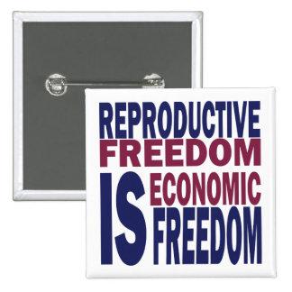 Reproductive Freedom 15 Cm Square Badge