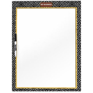 Reptile Black White Dry Erase Big Plain Board