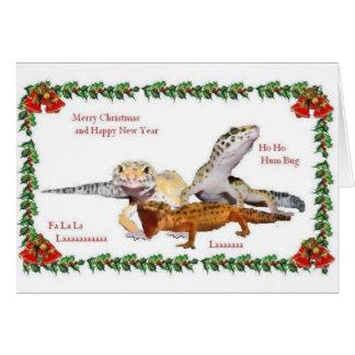 Reptile Christmas Card