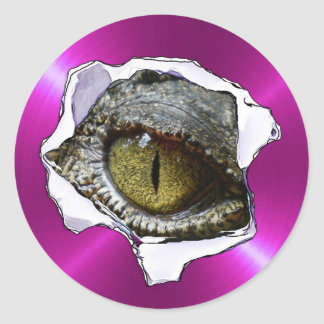 Reptile Eyeball and Purple Scary Stickers