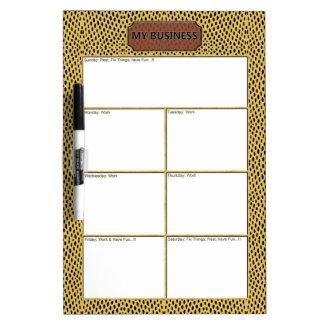 Reptile Gold Black Business Dry Erase Board