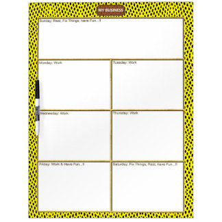 Reptile Yellow Black Dry Erase Large Board