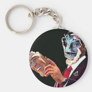 reptilian basic round button key ring