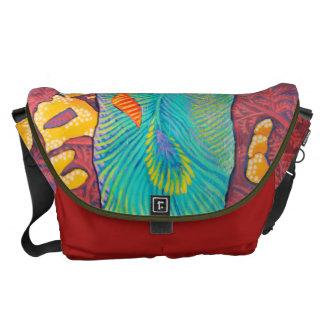 Reptilian Peacock Abstract Courier Bag