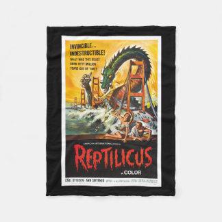Reptilicus Monster Movie blanket Fleece Blanket