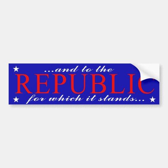 Republic Bumper Sticker