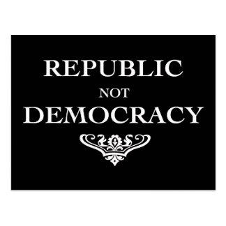 Republic not Democracy Postcard