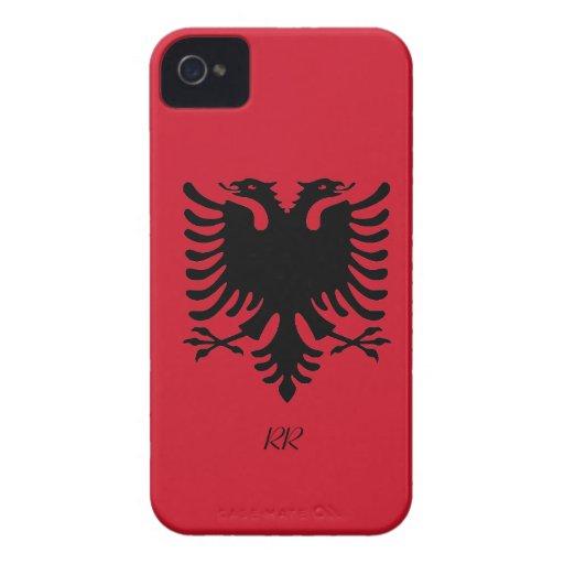 Republic of Albania Flag Eagle Blackberry Bold Case-Mate iPhone 4 Cases