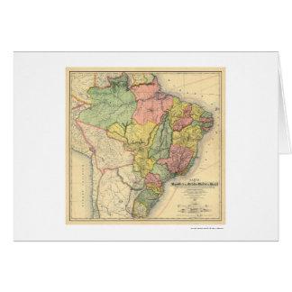 Republic of Brazil Map 1892 Card
