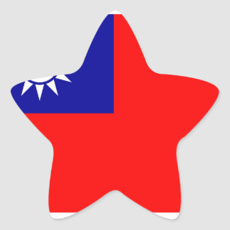 Republic Of China Flag Star Sticker