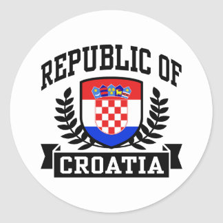 Republic of Croatia Classic Round Sticker