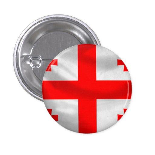 Republic of Georgia Flag Pinback Buttons