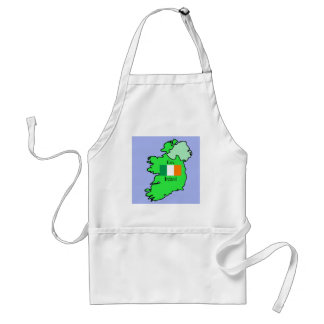 Republic of Ireland Flag and Map Standard Apron