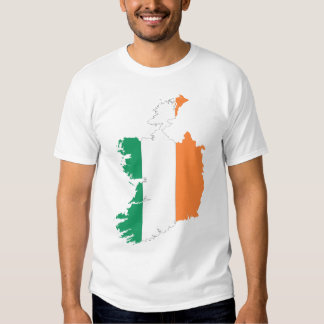 Republic Of Ireland Map Flag Tees