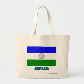 Republic of Jämtland flag with name (unofficial) Large Tote Bag
