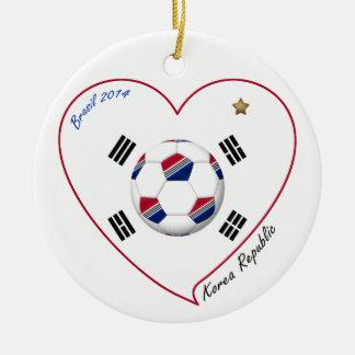 REPUBLIC OF KOREA SOCCER of national team 2014 Round Ceramic Decoration