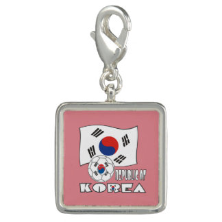 Republic of Korea (South) Soccer Ball and Flag